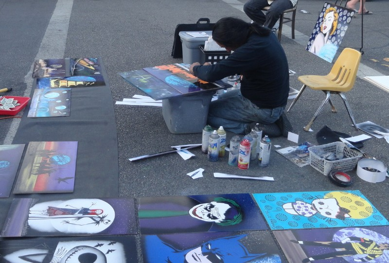 Spray Paint Street Artist