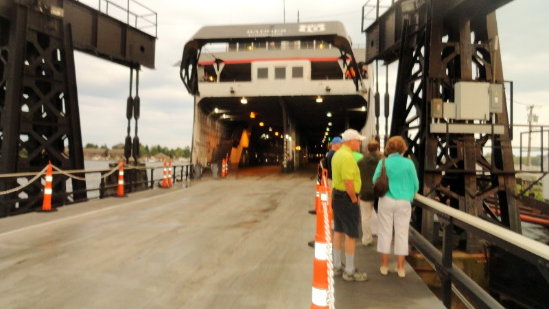 Waiting to Board the SS Badger