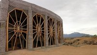 Earthship Building Under Construction at Greater World Community