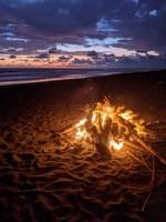 A Bonfire at Sunset