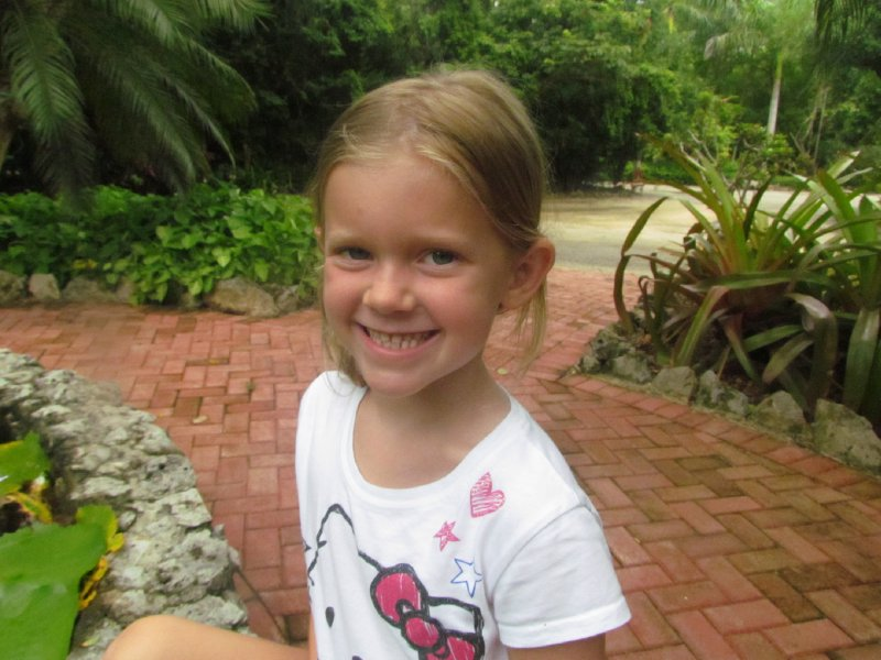 Sophie at the Botanical Gardens