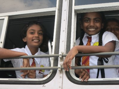 School girls in Colombo