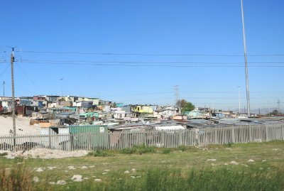 An informal settlement in Cape Town