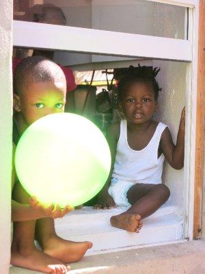 Kids with magic balloon