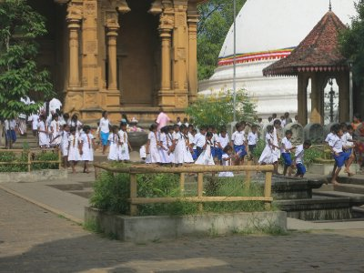 School outing at a Sri Lankan temple