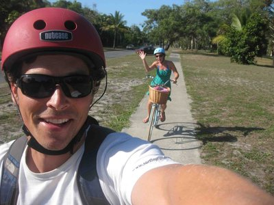 Biking through Port Douglas