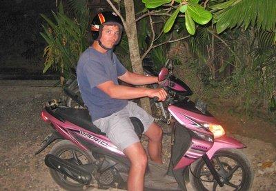 Lukin on Scooter, Bali