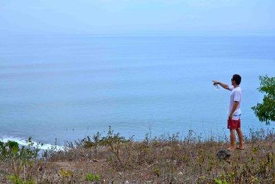 Lukin wave searching Bali, Indonesia