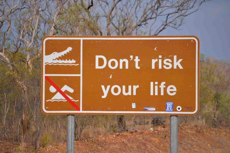 Croc Sign, Kakadu National Park, NT
