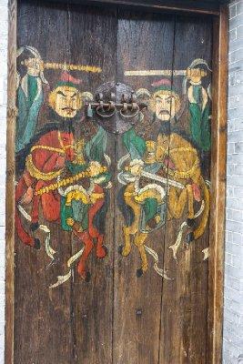 Hand painted heritage door