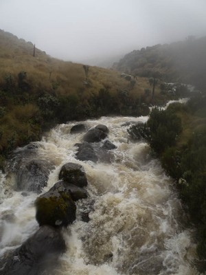 Overflowing stream along Sirimon route