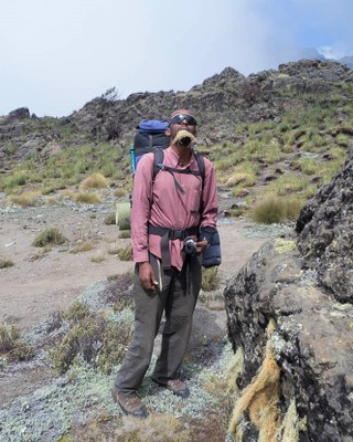 Mohammed, our guide, with lichen beard