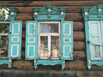 Traditional Russia wood house