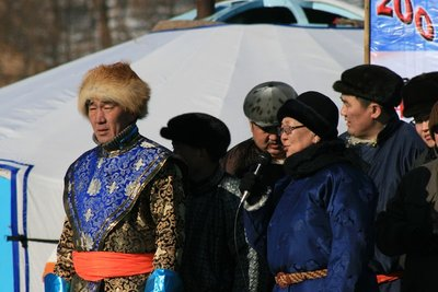 Locals in traditional dress