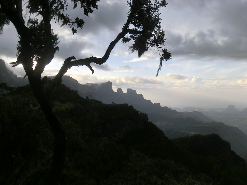 Sunset in Simien Mountains