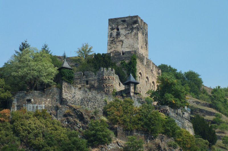 view of toll castle on Rhine River