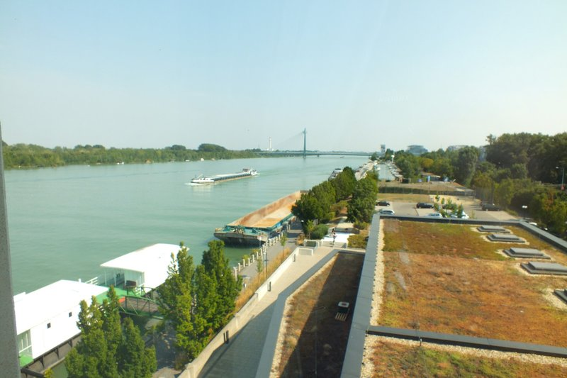 view of the Danube River from my room
