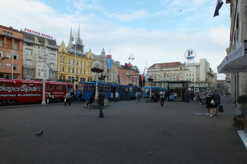 main square of Zagreb
