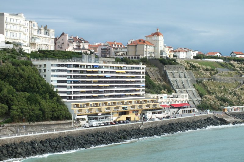 The town and a cliff side resort