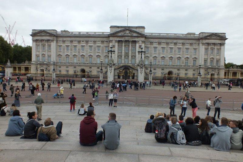 front of Buckingham Palace
