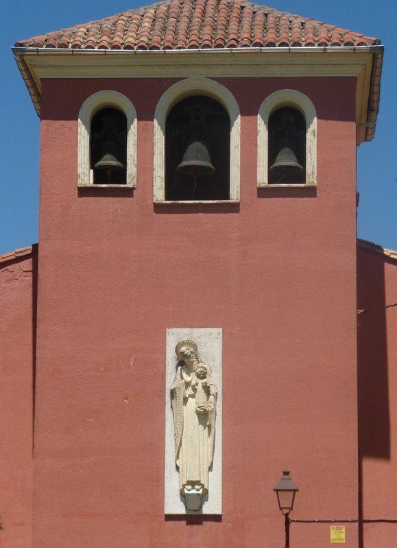 Red Spanish Church