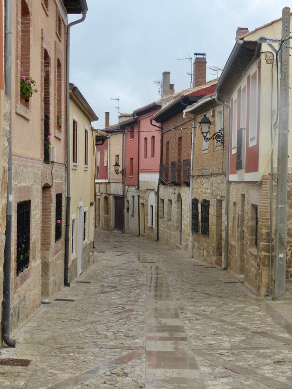 The long  and lone village walk