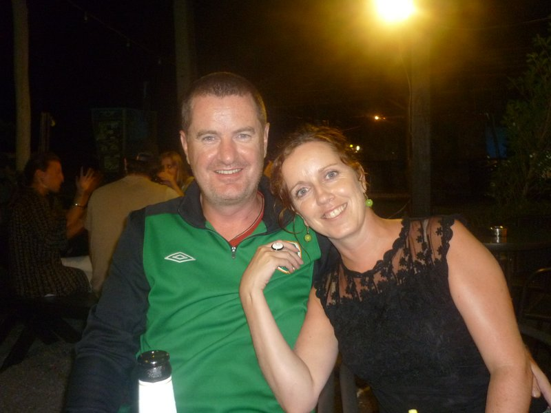 Irish Versus England and appropriately I am in black!