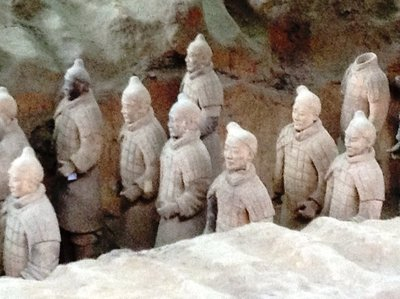 The life size terra cotta warriors.