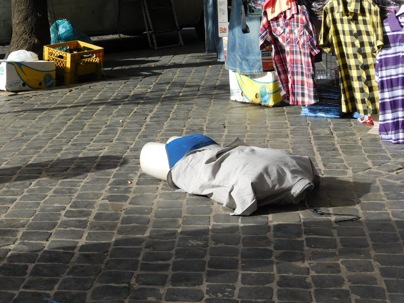 It was so hot in Rome the mannequins dropped their pants and passed out - July 2016