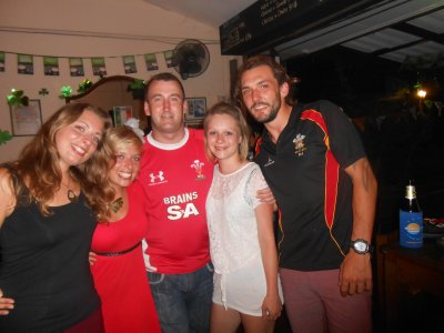 Happy welsh supporters after watching six nations!