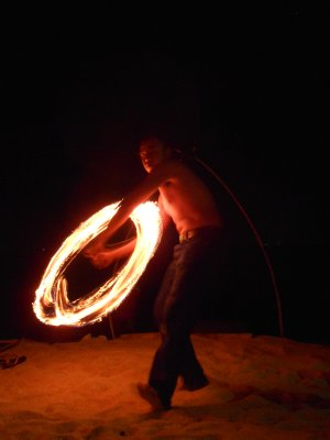 Fire show on Long Beach, Koh Lanta