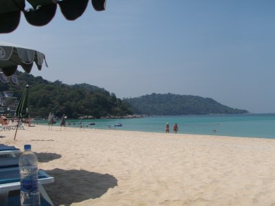 The view from our sun loungers on Kata Noi Beach, Phuket