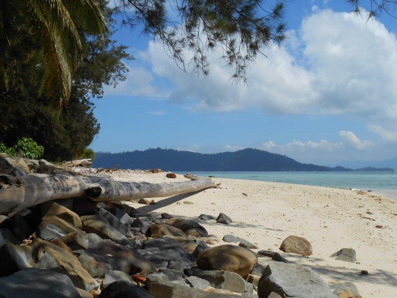 Our little beach at Manukan Island