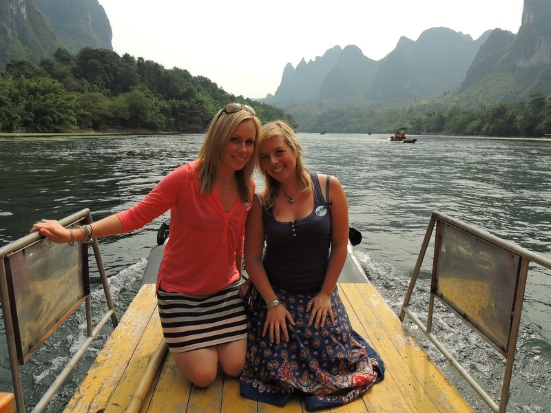 Us on the river near XingPing, the place pictured on the back of the 20 yuan note