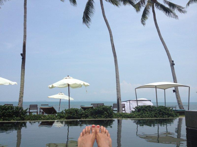 Fancy pants pool on Bang Por Beach, Ko Samui