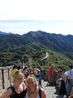 Jo and Tam on the Great Wall of China