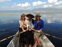 Us with our boat rower!