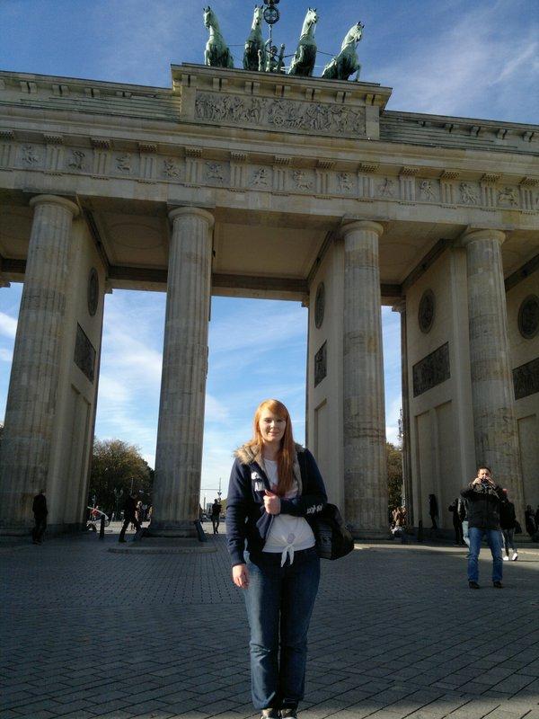 Me in front of Brandenburg Gate