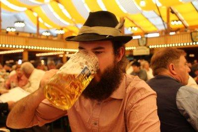 Rein drinking Beerstein @Oktoberfest!