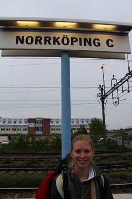 Leah @Norrkoping Train Station