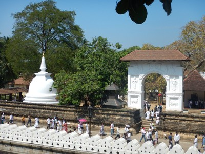 Gardens at the Temple of the Tooth in Kandy
