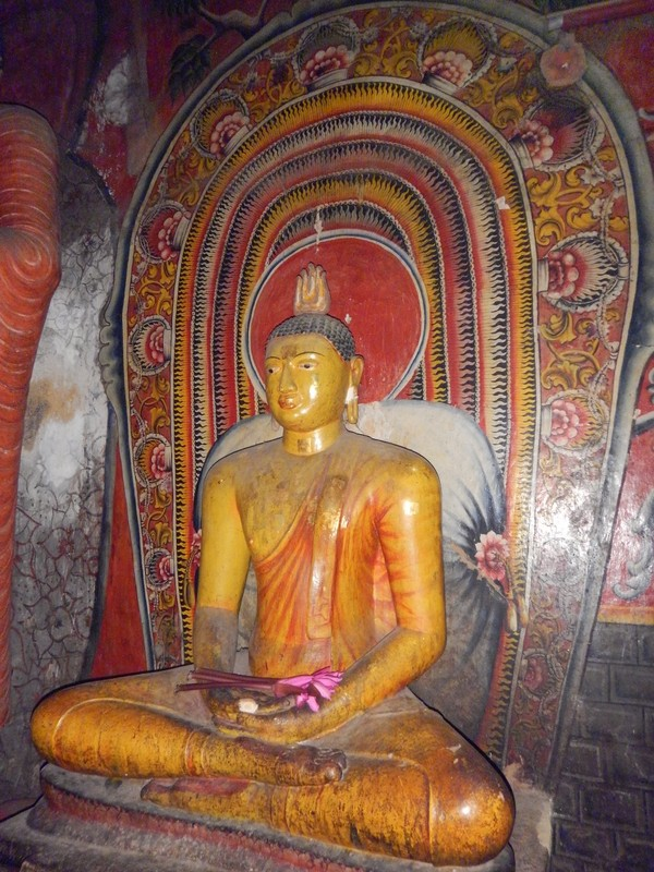 Seated Buddha Statue in Cave 1 Dambulla