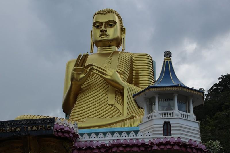 Large Golden Buddha in Dambulla