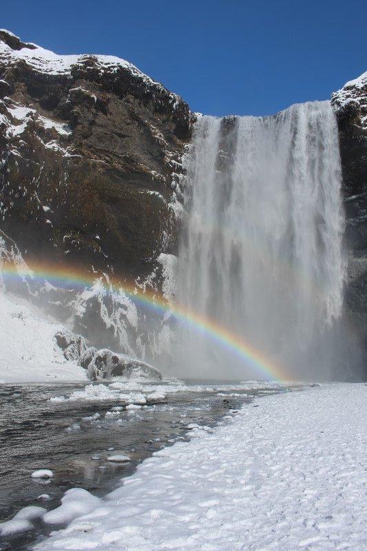 Rainbows over Skogafoss