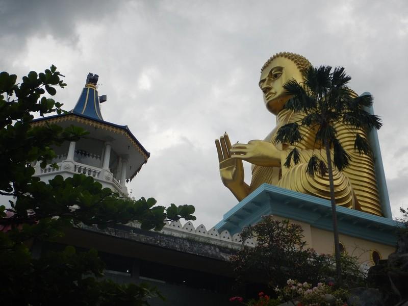 Golden Buddha in Dambulla