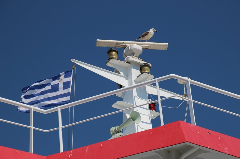 Hitching a ride on the Thassos Ferry
