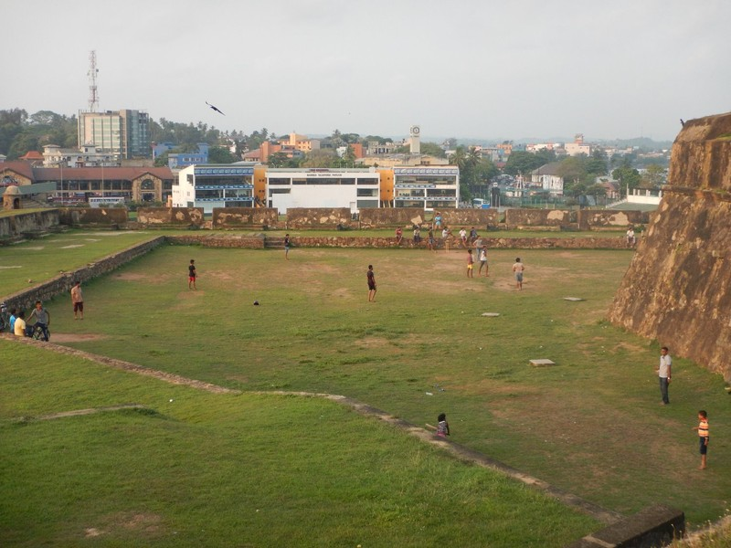 The national sport of cricket - played in every available space