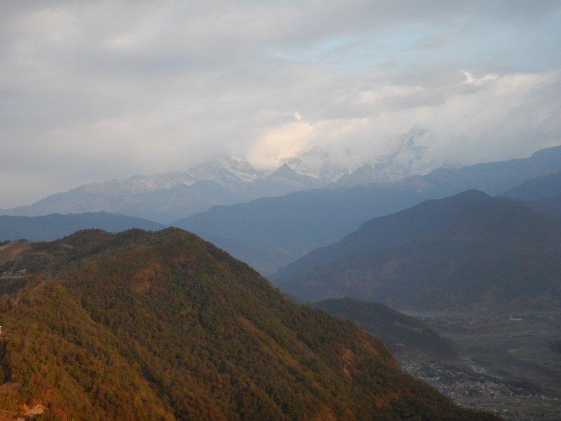 Sunrise over the Annapurnas