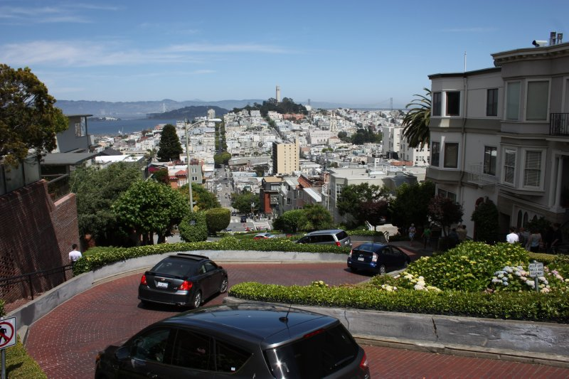 From The Top of Lombard Street