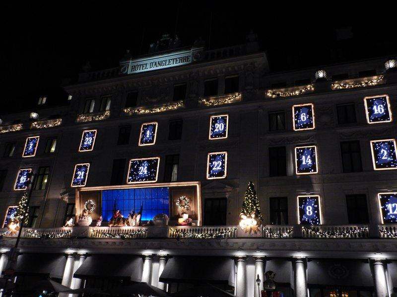 Advent Calendar on the Hotel d'Angleterre